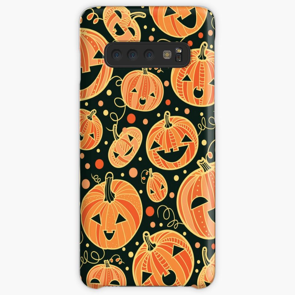 Fun Halloween pumpkins pattern Hülle & Klebefolie für Samsung Galaxy