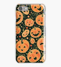 Fun Halloween pumpkins pattern iPhone Case/Skin