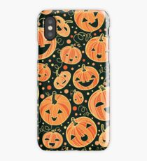 Fun Halloween pumpkins pattern iPhone Case/Skin