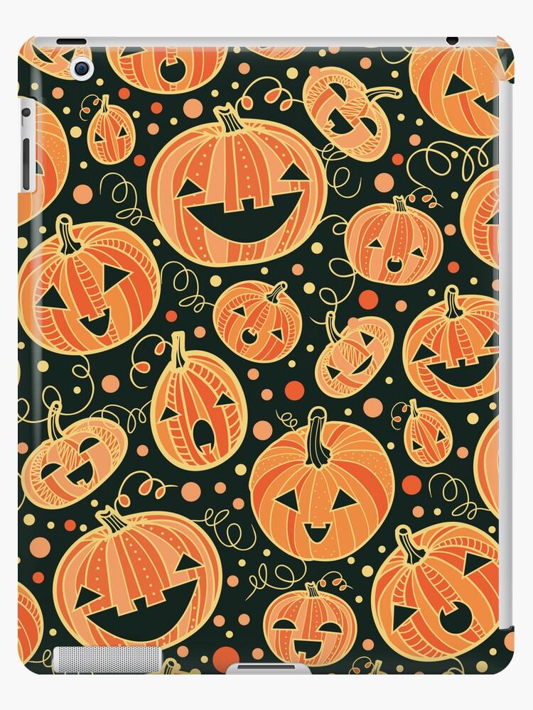 «Divertido patrón de calabazas de Halloween» de oksancia