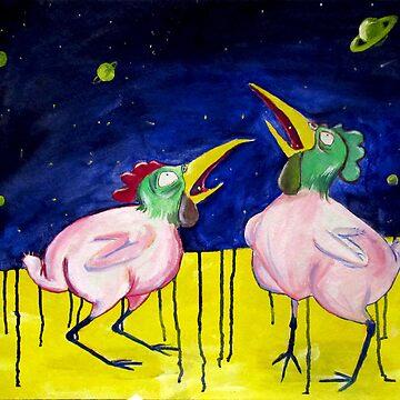 chickens eat stars..  by radovansensel
