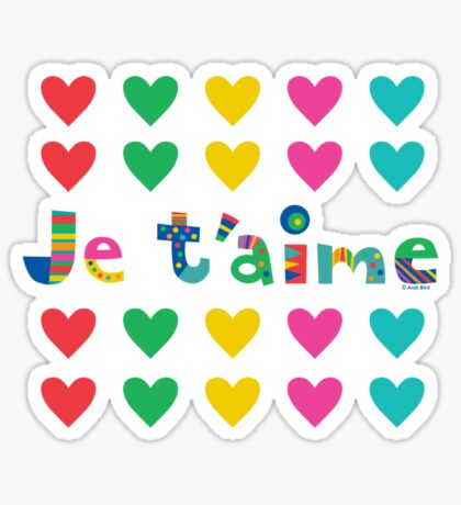 Je t'aime  Sticker
