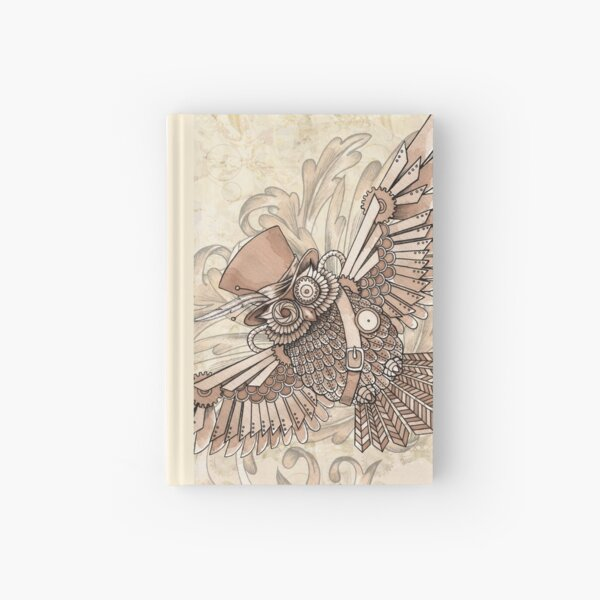 Steampunk Owl Hardcover Journal