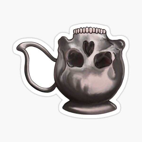 Teacup Skull Sticker