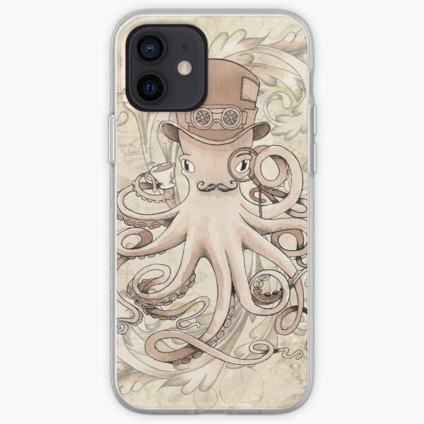 Steampunk Octopus iPhone Soft Case