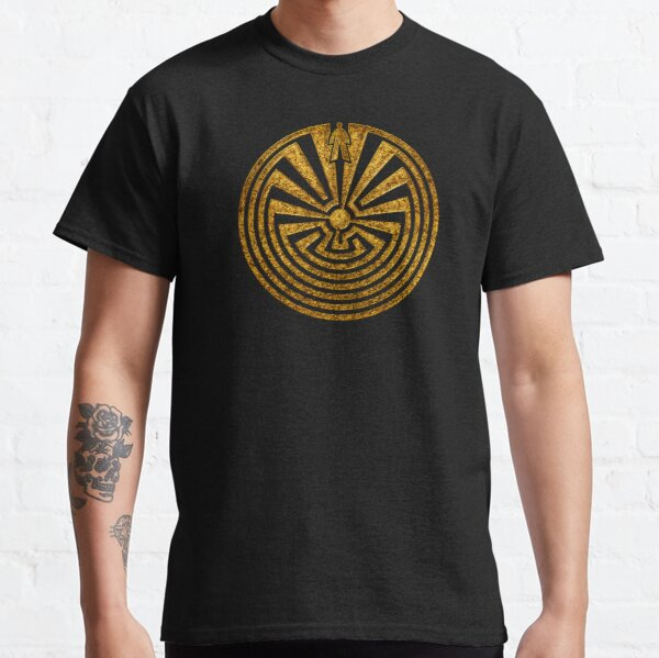Man in the Maze, Labyrinth, Journey through life, I'itoi, Papago Classic T-Shirt