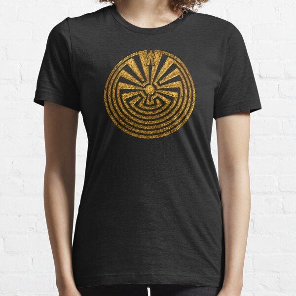 Mann im Labyrinth, Labyrinth, Reise durch das Leben, I'itoi, Papago Essential T-Shirt