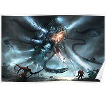 Mech Dragon Battle Poster