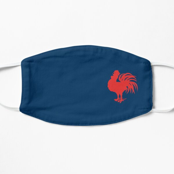 Sydney Roosters Face Mask - One Little Red Rooster on Blue Flat Mask