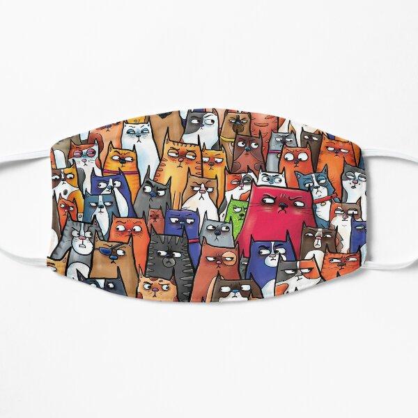 Suspicious Kitties Flat Mask
