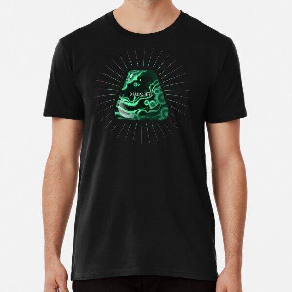 Malachite gemstone design Premium T-Shirt