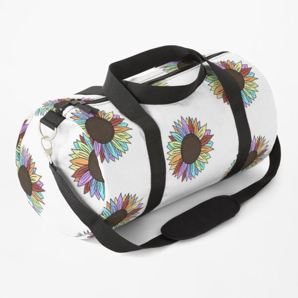 Rainbow Sunflower Duffle Bag