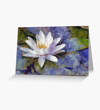 White Diva Greeting Card