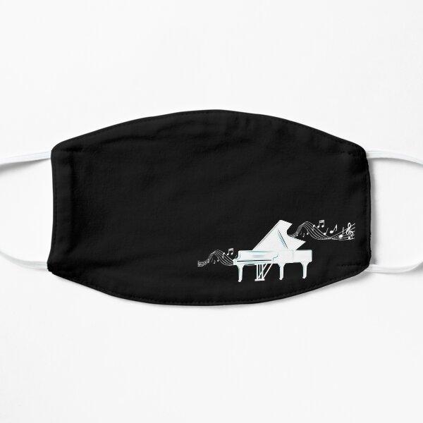 Piano avec des notes de musique. Pianiste. Mélomane Masque sans plis