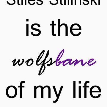 Stiles Stilinski is the Wolfsbane of my life. (Black.) by TobiasRosetta