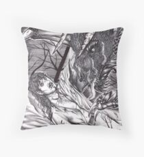 Vlad and the Dragon Throw Pillow