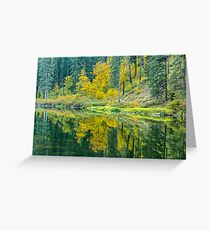 Wenatchee River in Tumwater Canyon Greeting Card