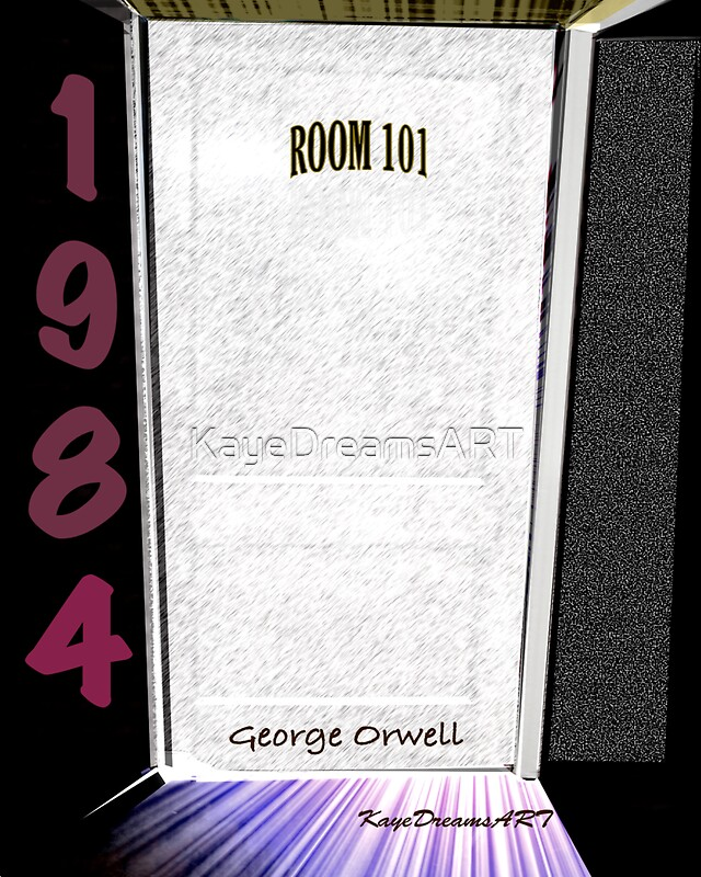 """""""1984 Room 101 With White Door"""" Posters By KayeDreamsART"""