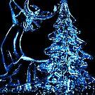 Noel Christmas card - Reindeer by Dawn B Davies-McIninch