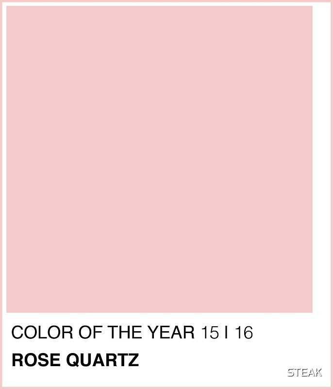 "Célèbre ROSE QUARTZ PANTONE 2016 COLOR"" Greeting Cards by STEAK 