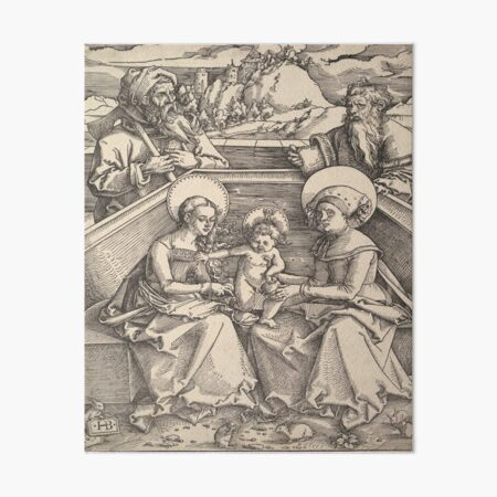 The Holy Family with St. Anna and St. Joachim  Art Board Print