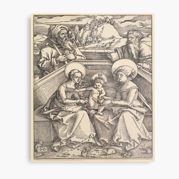 The Holy Family with St. Anna and St. Joachim  Metal Print