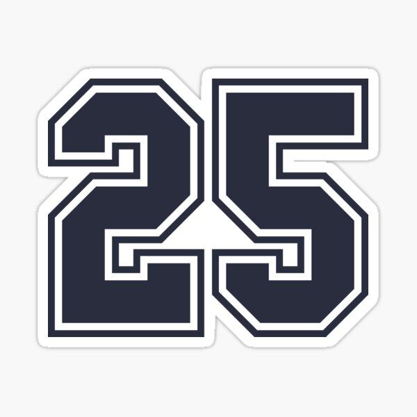 25 Sports Number Twenty-Five Sticker