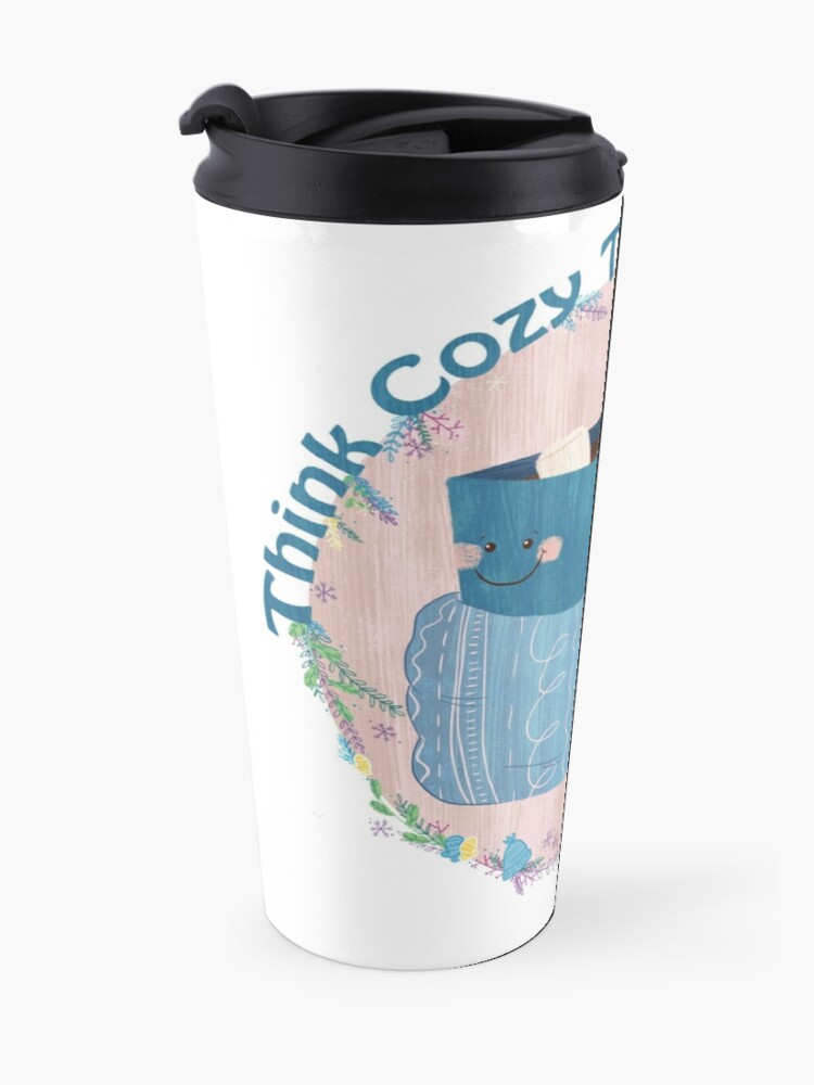 Alternate view of Cozy Thoughts Travel Mug
