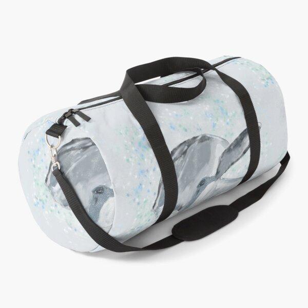 Joyful Splashing Dolphin Art/Painting Duffle Bag