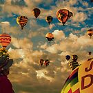 Man and Balloons by IOBurque
