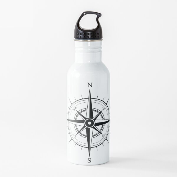 Compass Rose (North, East, South, West) Water Bottle