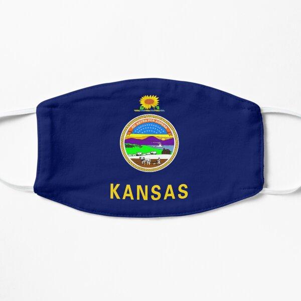 Kansas Flagge Flache Maske