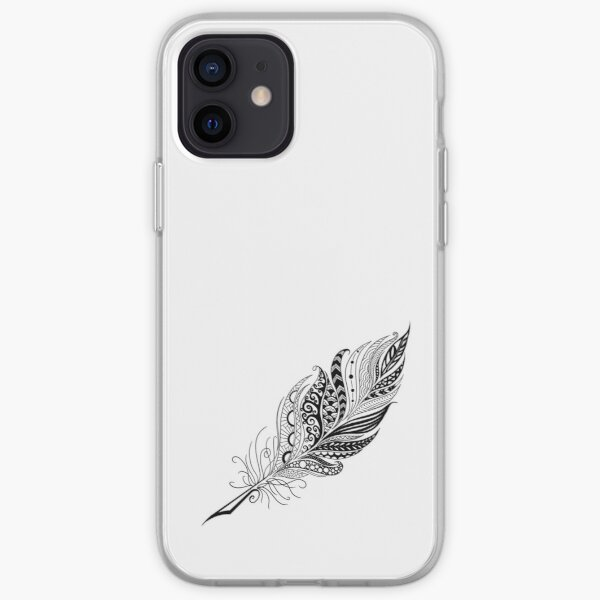 Black Feather iPhone Soft Case