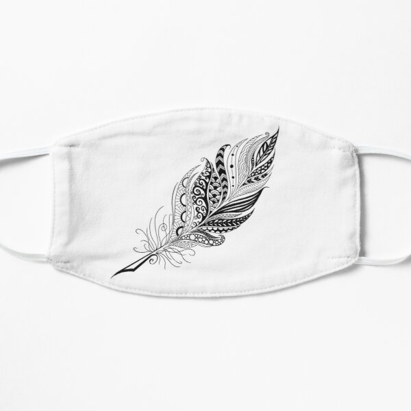 Black Feather Flat Mask
