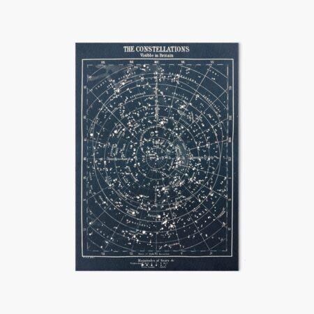 Vintage STAR CONSTELLATIONS MAP POSTER circa 1900s  Art Board Print