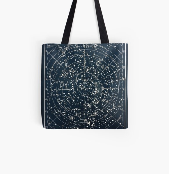 Vintage STAR CONSTELLATIONS MAP POSTER circa 1900s  All Over Print Tote Bag