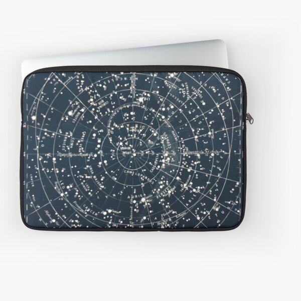 Vintage STAR CONSTELLATIONS MAP POSTER circa 1900s  Laptop Sleeve