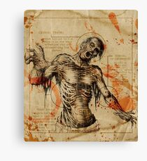 Diagram Zombie Canvas Print
