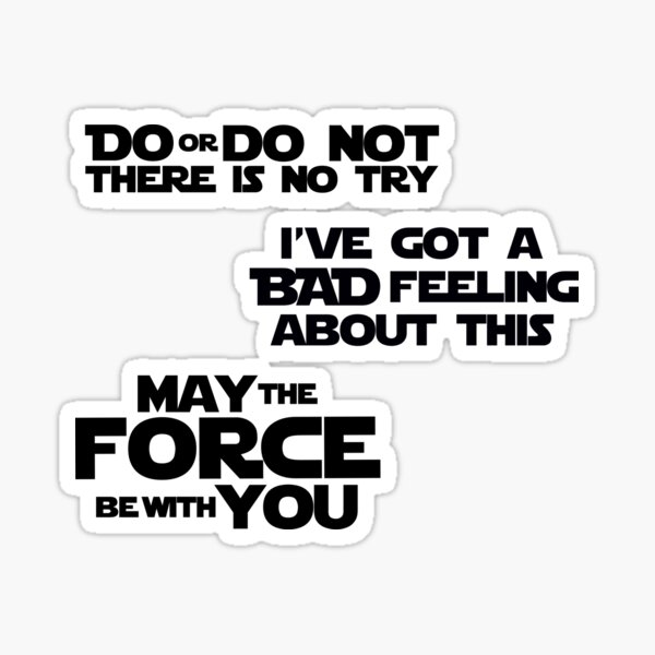SW Quotes Sticker Set Sticker