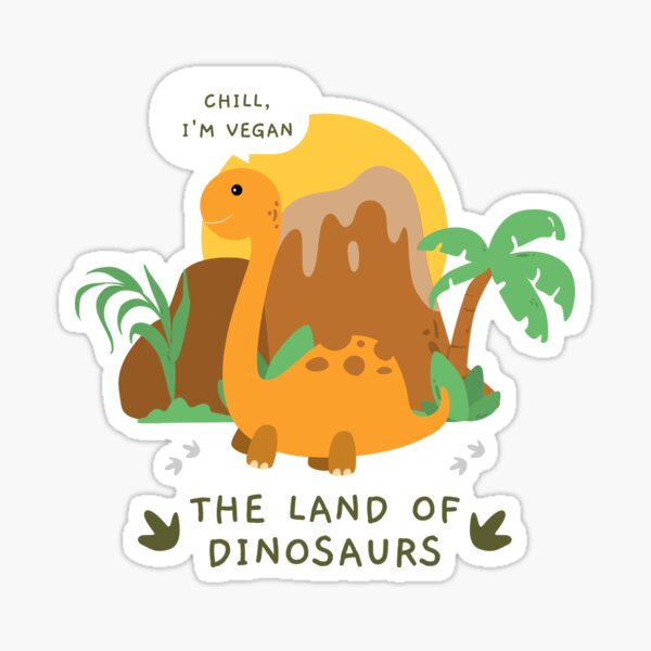 The Land Of Dinosaurs Sticker