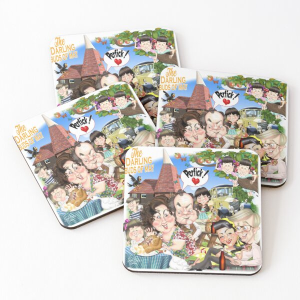Darling Buds of May Coasters (Set of 4)