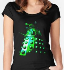 Dalek Gamma – Green Women's Fitted Scoop T-Shirt