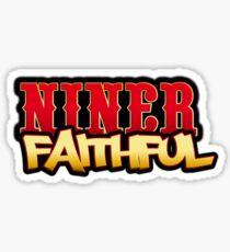 Niner Faithful Sticker