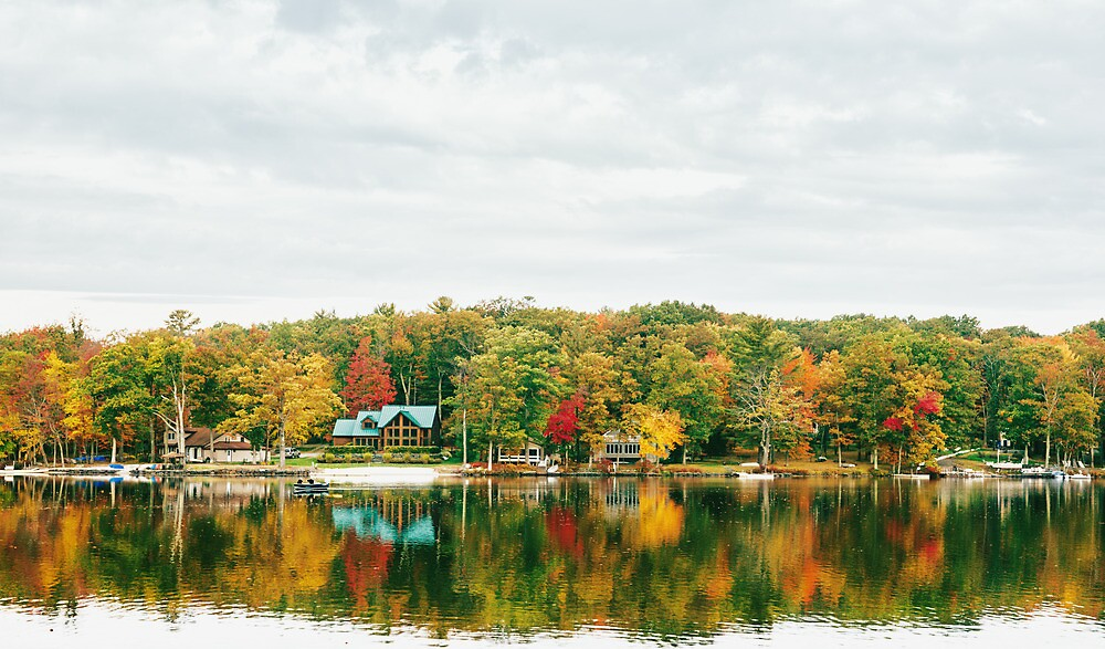 Autumn - Lake - Pocono Mountains by Vivienne Gucwa