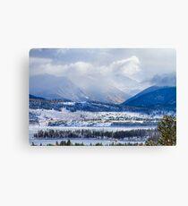 Colorado Rocky Mountain Autumn Storm Canvas Print