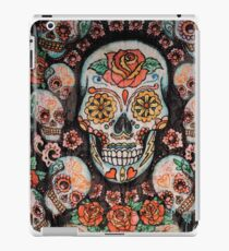 skull with flowers iPad Case/Skin