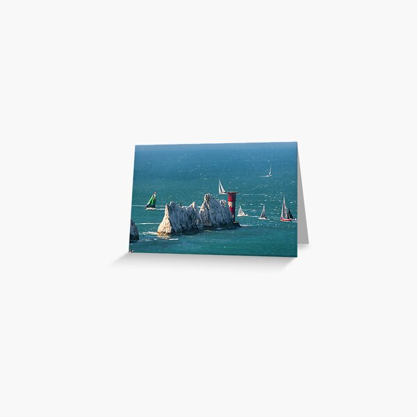 RORC Race The Wight Rounding The Needles Greeting Card