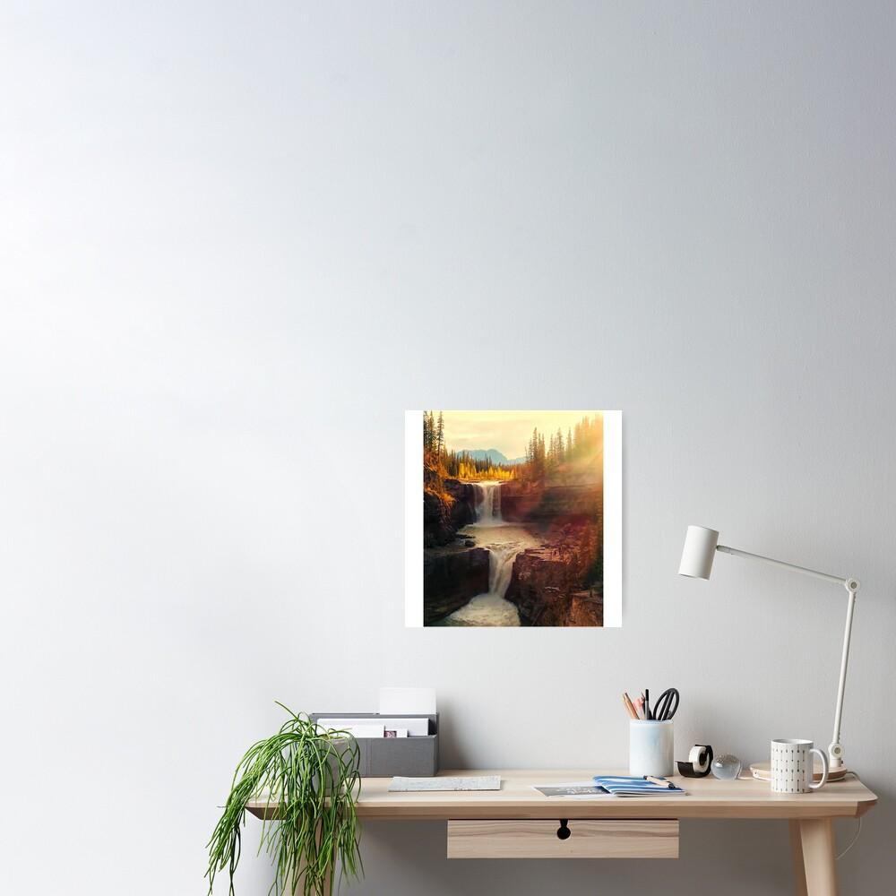 Sunshine waterfall Poster