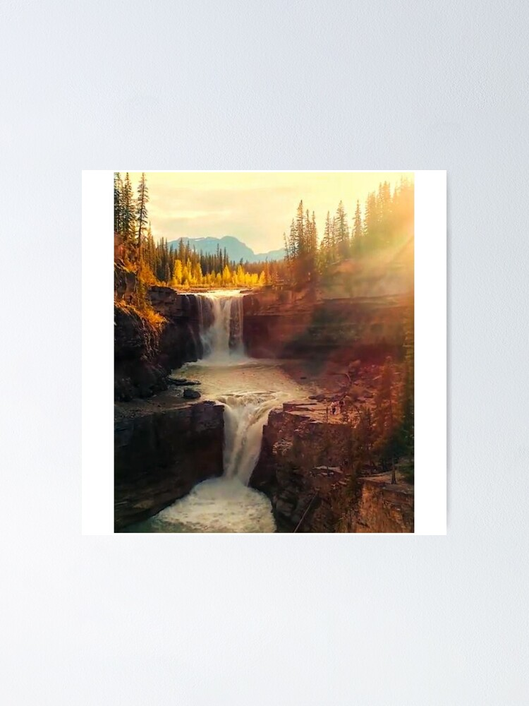 Alternate view of Sunshine waterfall Poster