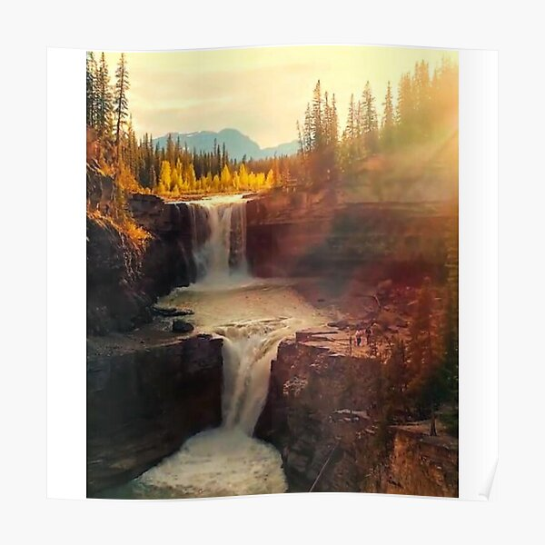Sunshine waterfall Poster